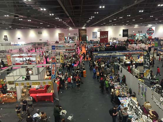 Lots to buy at Comic-con London.