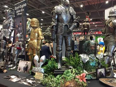 Armour for sale at Comic-con London.
