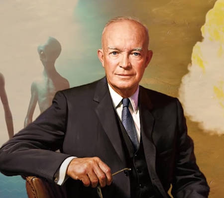 When President Eisenhower met E.T? (audio interview).