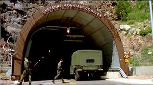 The underground super base at Cheyenne Mountain (science video).
