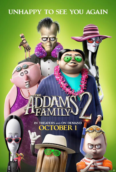 The Addams Family 2 (animated horror-comedy film: reviewed by Mark Kermode).