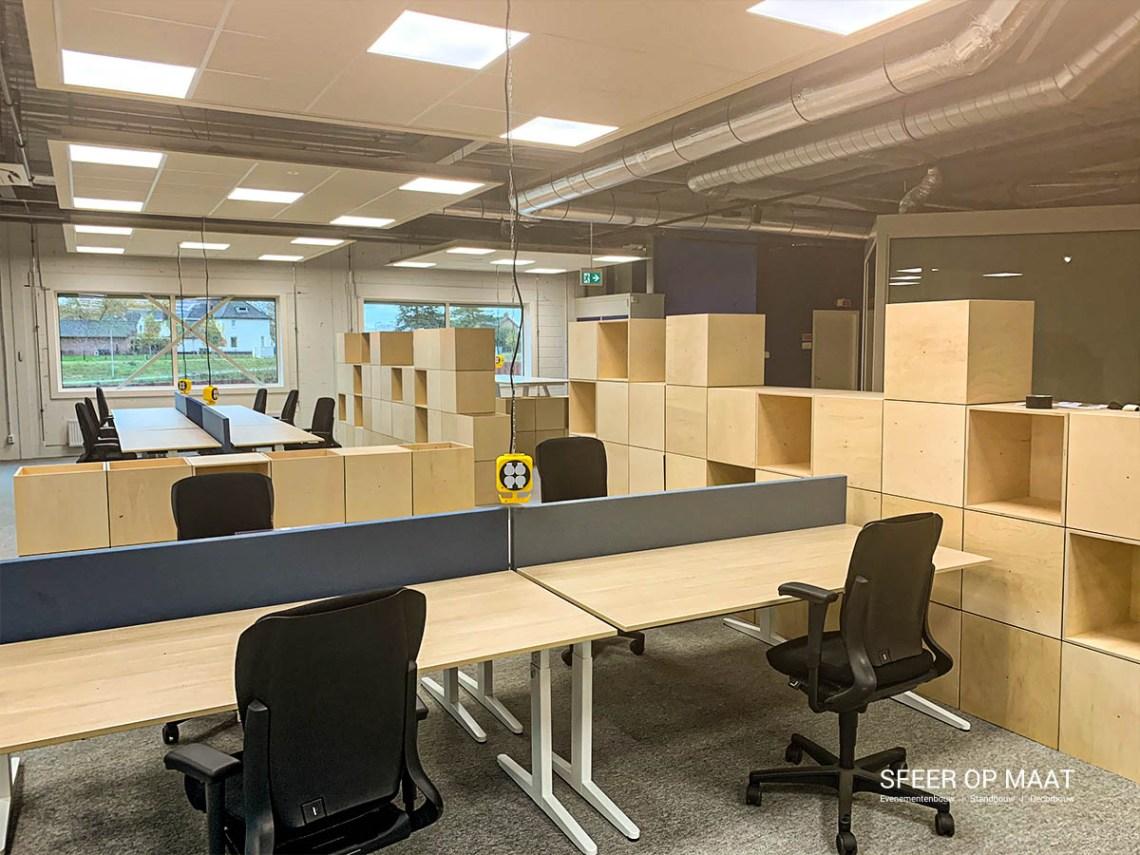 Heijmans Rosmalen werkplekken met modulaire dividers