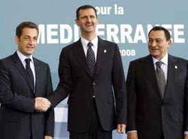 Sarkozy, Assad, and Mubarak