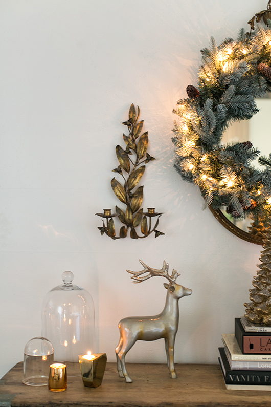 metallic gold christmas decor / sfgirlbybay