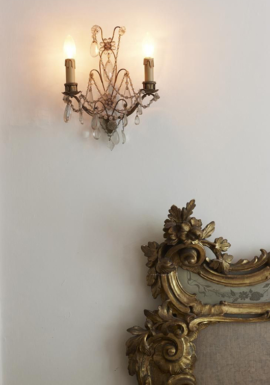 ornate vintage mirror and sconce / sfgirlbybay