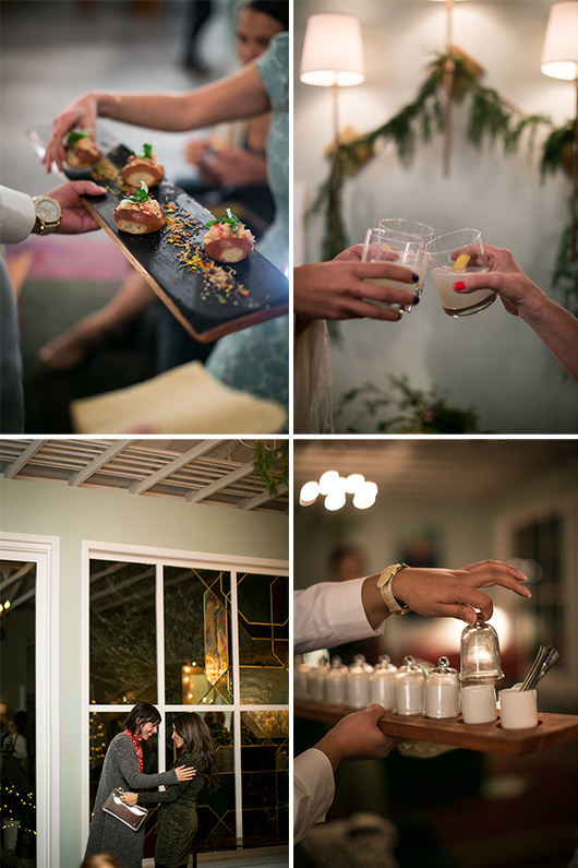 cocktails and appetizers at skyy holiday party / sfgirlbybay
