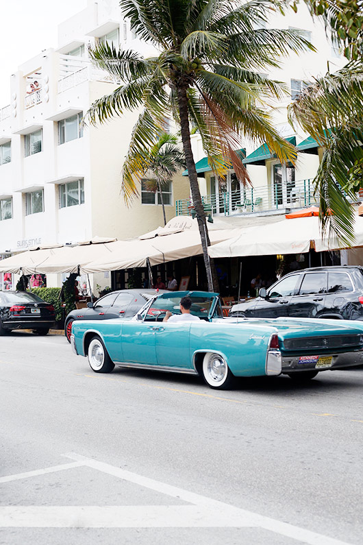 vintage teal convertible spotted in miami / sfgirlbybay