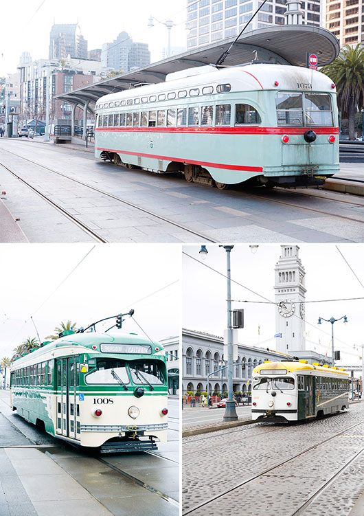 trolley cars in san francisco / sfgirlbybay