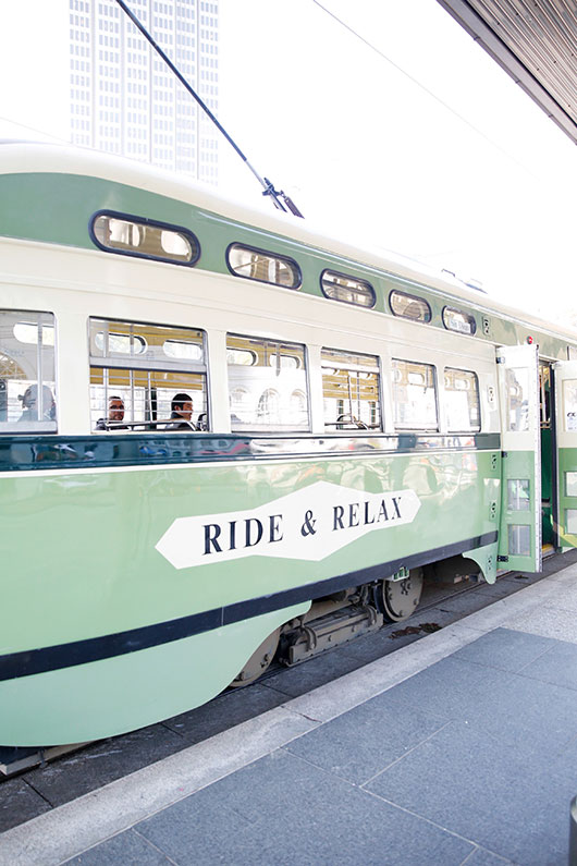 vintage trolley car in san francisco / sfgirlbybay