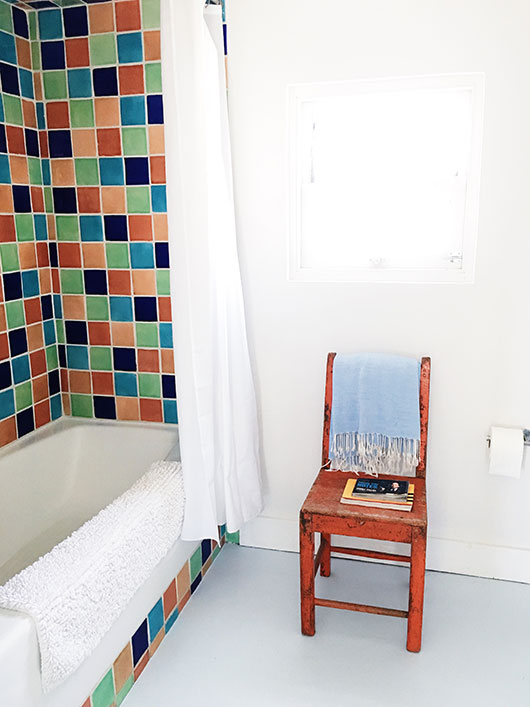 colorful bathroom tile in the Rock City House at Corte del Norte / sfgirlbybay