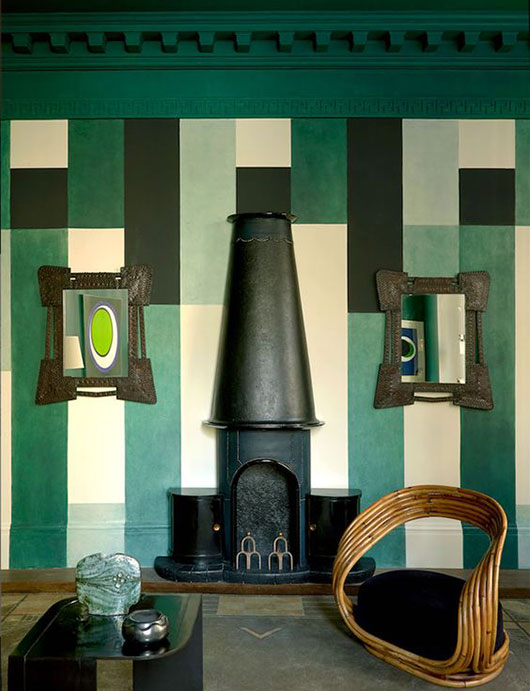 plaid green and black wall paint / sfgirlbybay