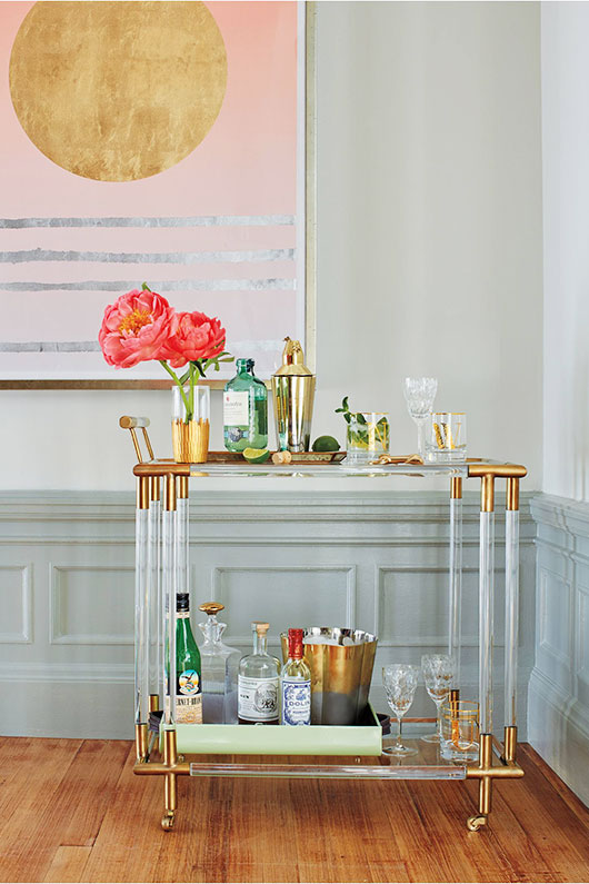 lucite bar cart from anthropologie / sfgirlbybay