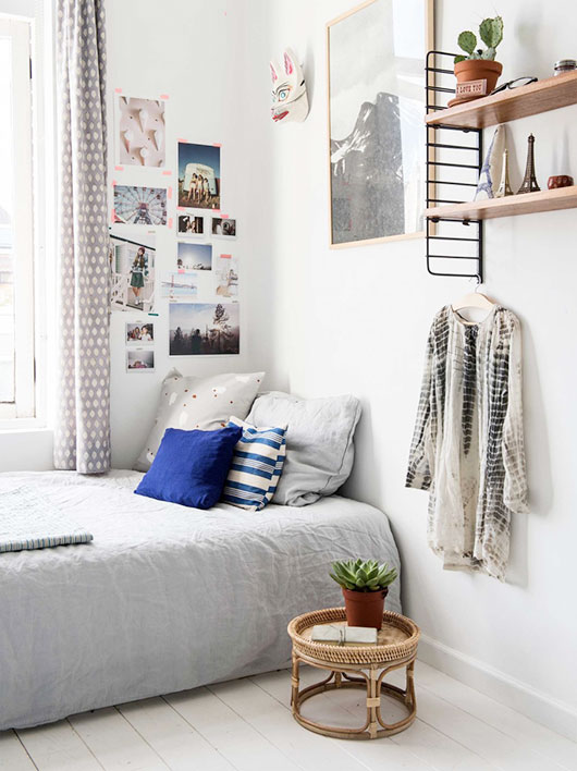 bedroom in saar manche's townhouse featured in vtwonen / sfgirlbybay