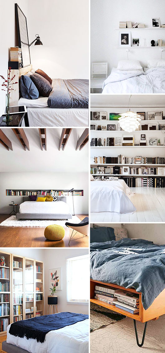 built-in bookcases inside bedrooms / sfgirlbybay