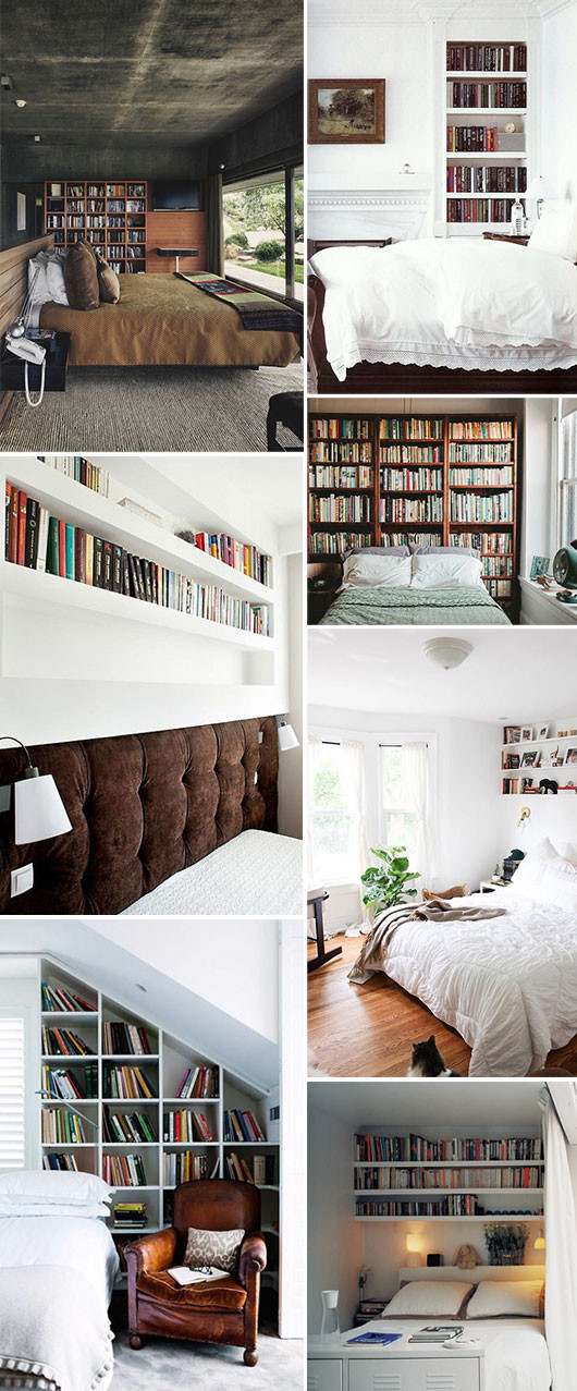 bedrooms with book shleves / sfgirlbybay