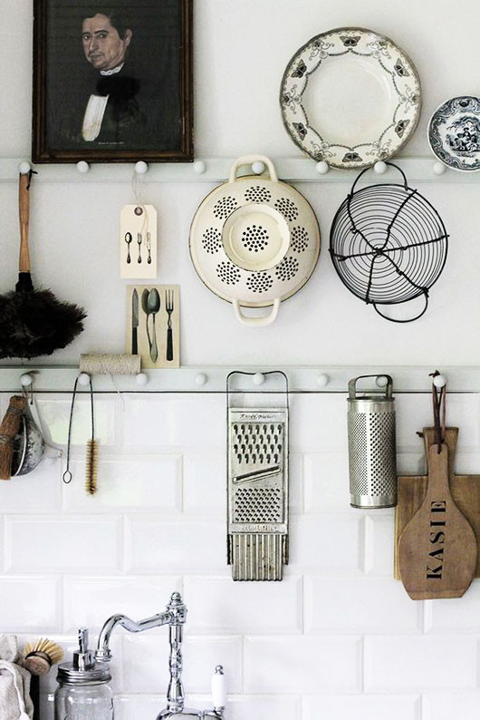 kitchen wall storage and decor via lovely life. / sfgirlbybay