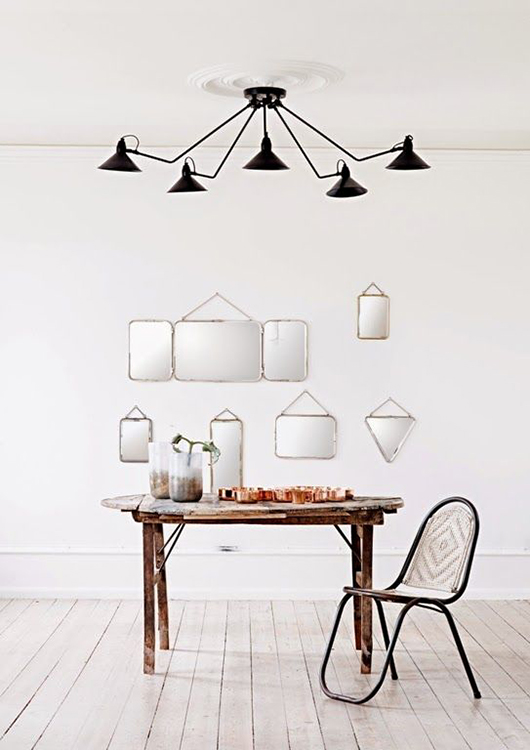 love this metal chair and pendant lamp from olsson & jensen. / sfgirlbybay