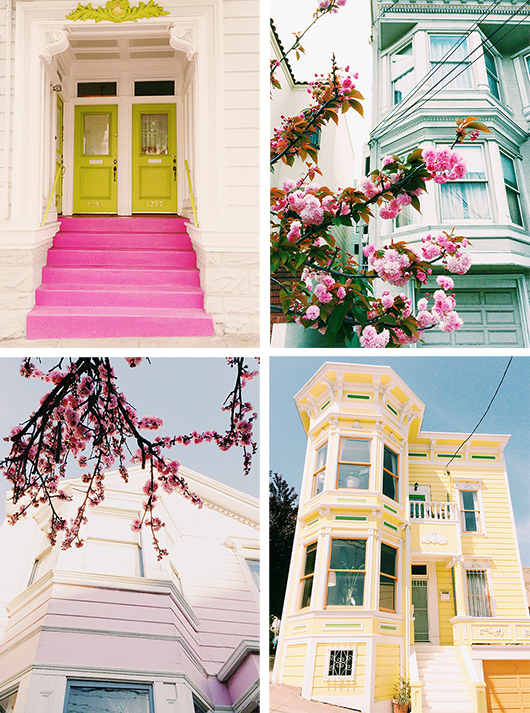 selection of colorful images from Victoria Smith's book See San Francisco. / sfgirlbybay