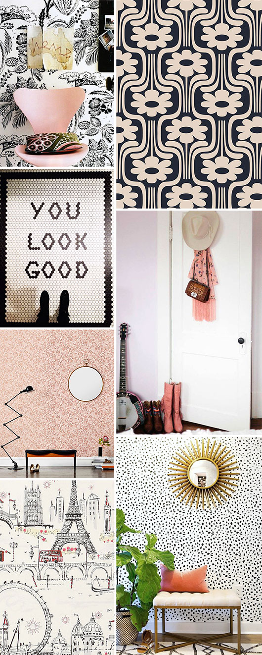 inspirational black and white decor with pops of pink / sfgirlbybay