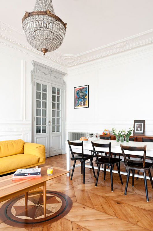 paris penthouse with colorful modern decor. / sfgirlbybay