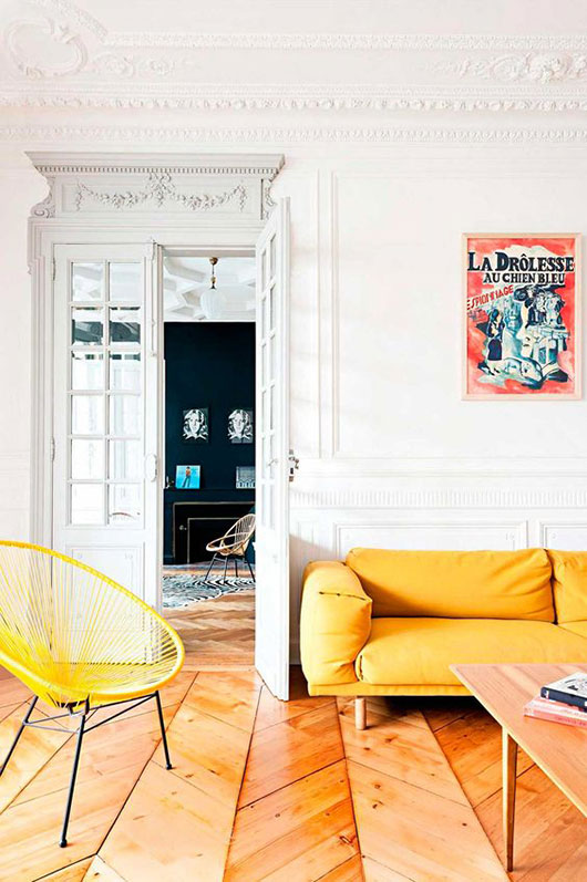 colorful paris penthouse designed by Fusion D / sfgirlbybay