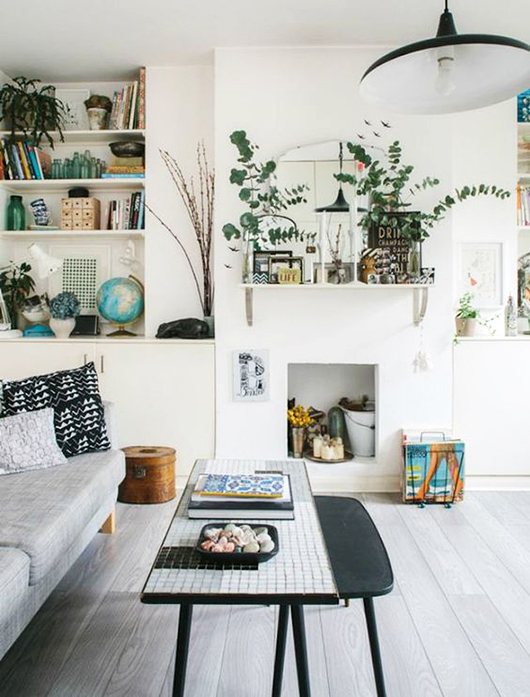 green plants in modern living room / sfgirlbybay