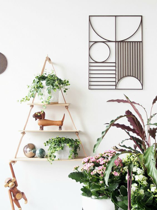 green plants in pots mixed with modern decor via monster circus. / sfgirlbybay