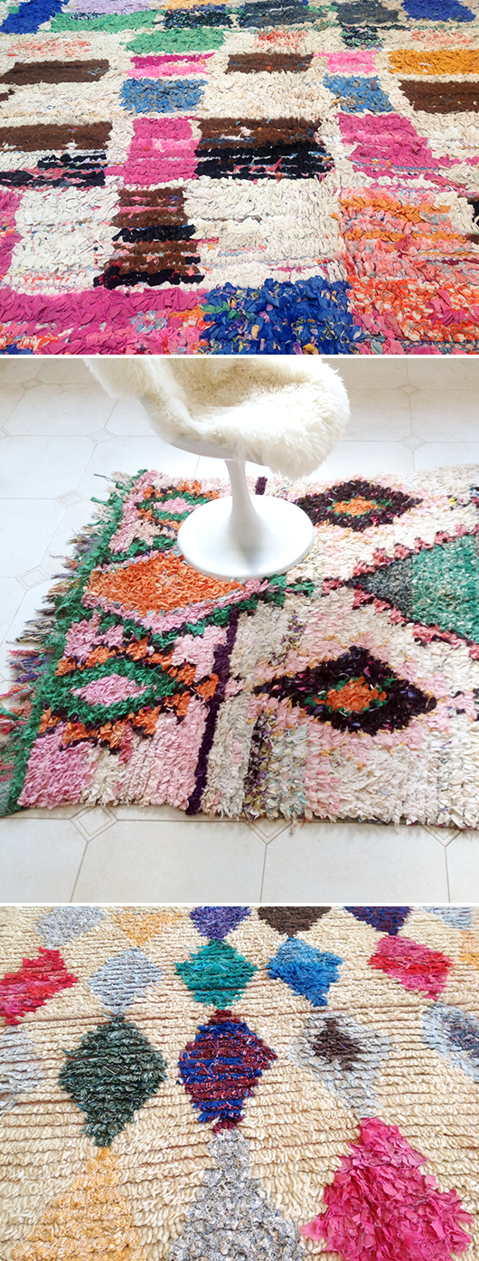 boucherouite rugs from The Sunny Side & Co. / sfgirlbybay
