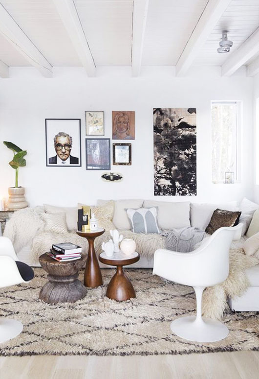 cozy moroccan decor and low sofa via kk living. / sfgirlbybay