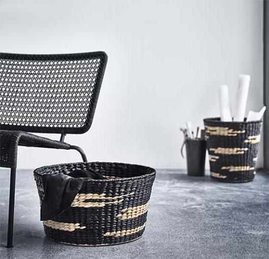 woven baskets and chair from IKEA's new VIKTIGT collection. / sfgirlbybay