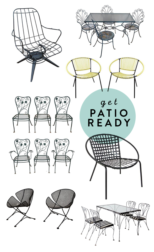 getting patio ready with vintage chairs from chairish / sfgirlbybay