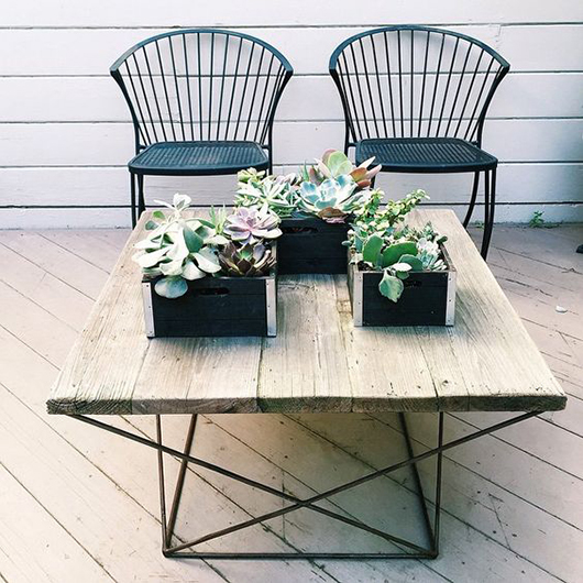 getting patio ready with vintage chairs. / sfgirlbybay