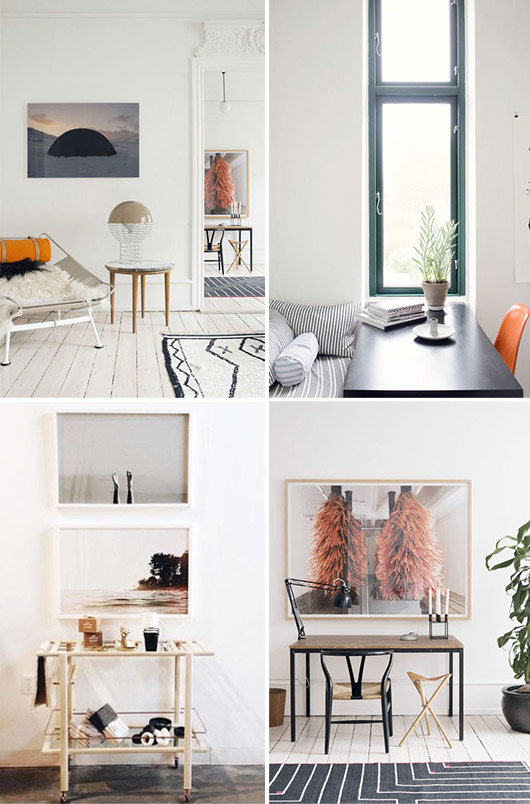 color pallete: cool blues and hints of pale peachy blush and orange / sfgirlbybay