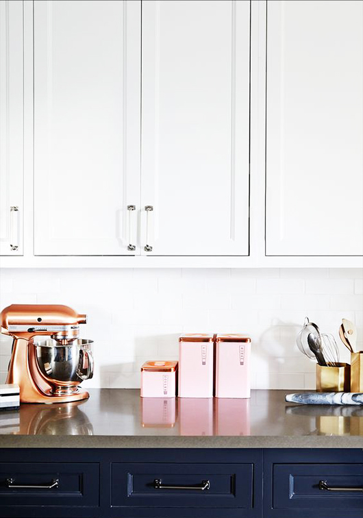 copper & pink kitchen canisters / sfgirlbybay