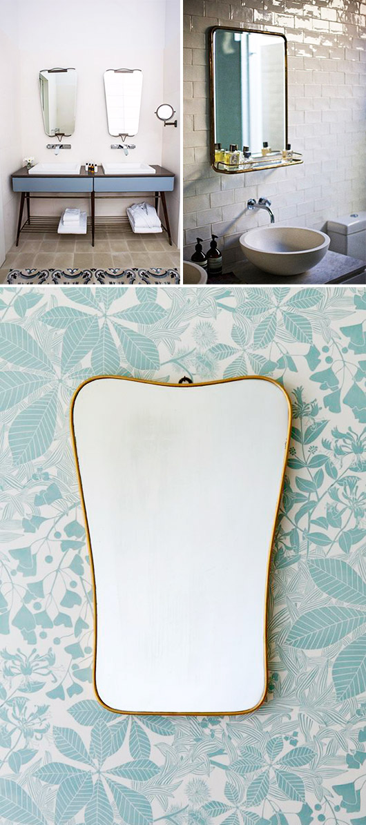 retro bathroom mirrors / sfgirlbybay