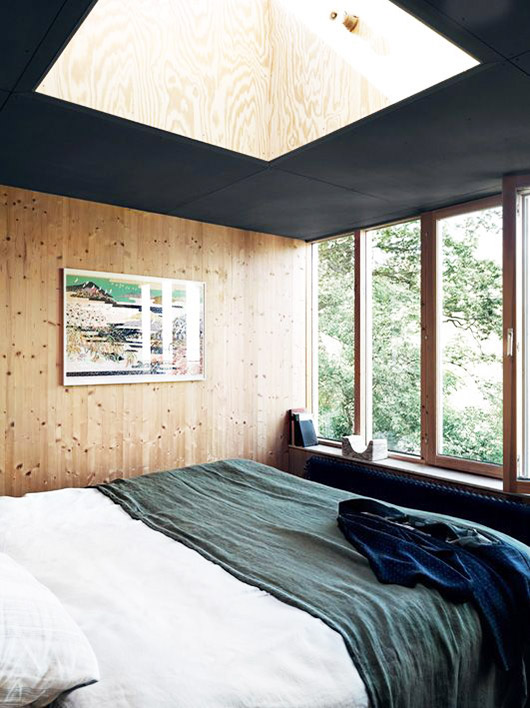 modern cabin with plywood ceiling and walls / sfgirlbybay
