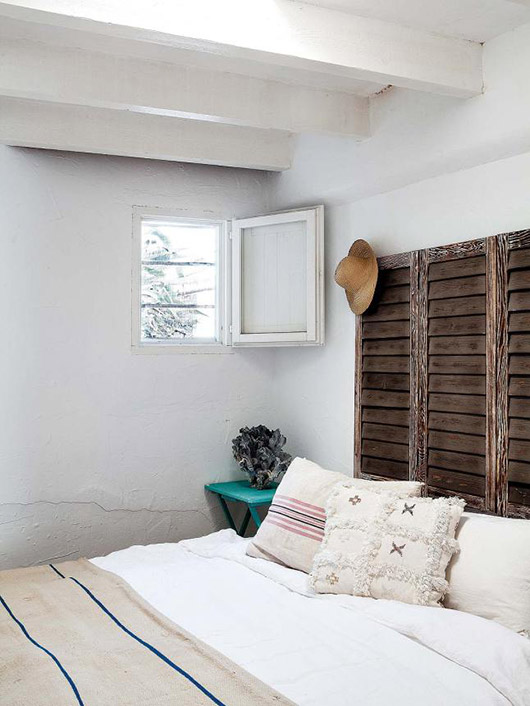 rustic Mediterranean bedroom of lifestyle designer & stylist jessica bataille. / @sfgirlbybay