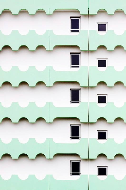 white building with mint green detail / sfgirlbybay