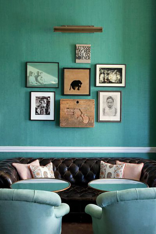 turquoise wall paint and decor / sfgirlbybay