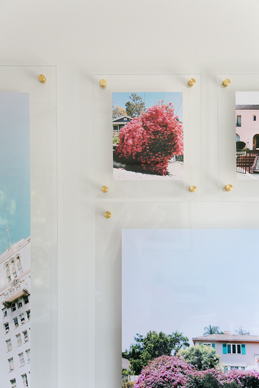 float frames with brass bolts from artifact uprising / sfgirlbybay