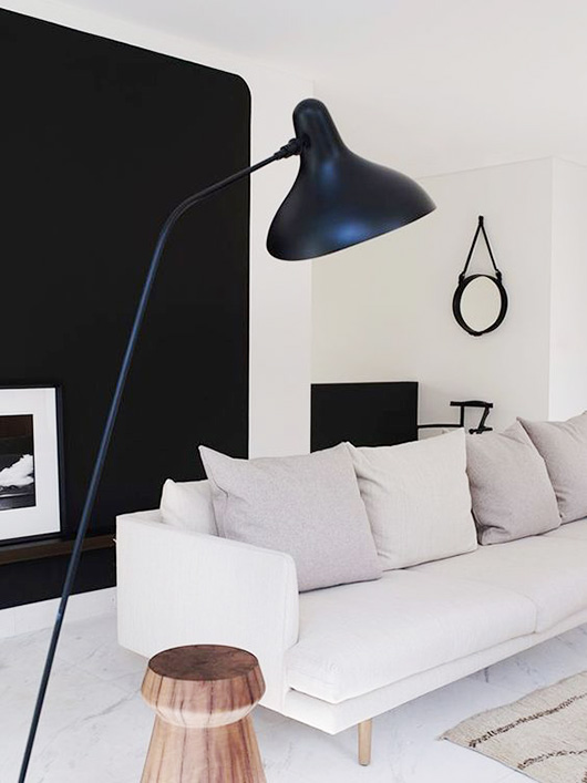 serge mouille floor lamp in modern living room / sfgirlbybay