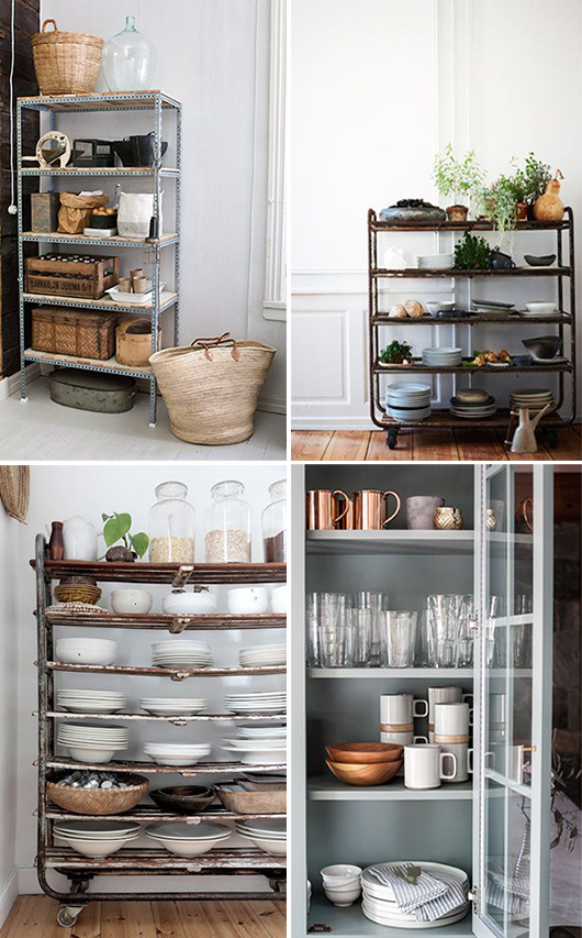 vintage carts as kitchen pantry storage / sfgirlbybay