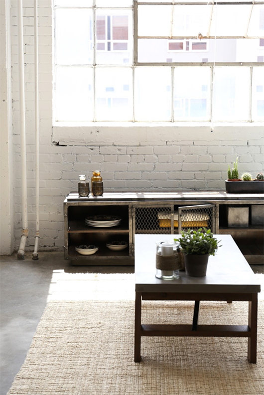 industrial modern home furnishings by furniture maison / sfgirlbybay