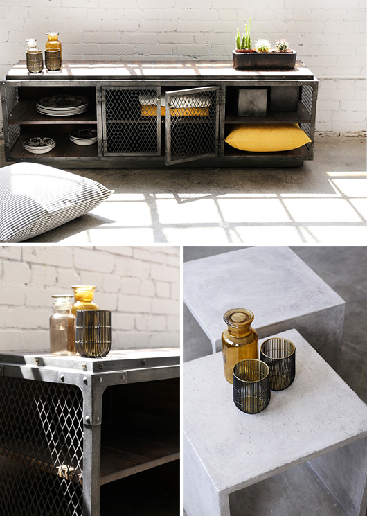 metal locker table from furniture maison / sfgirlbybay