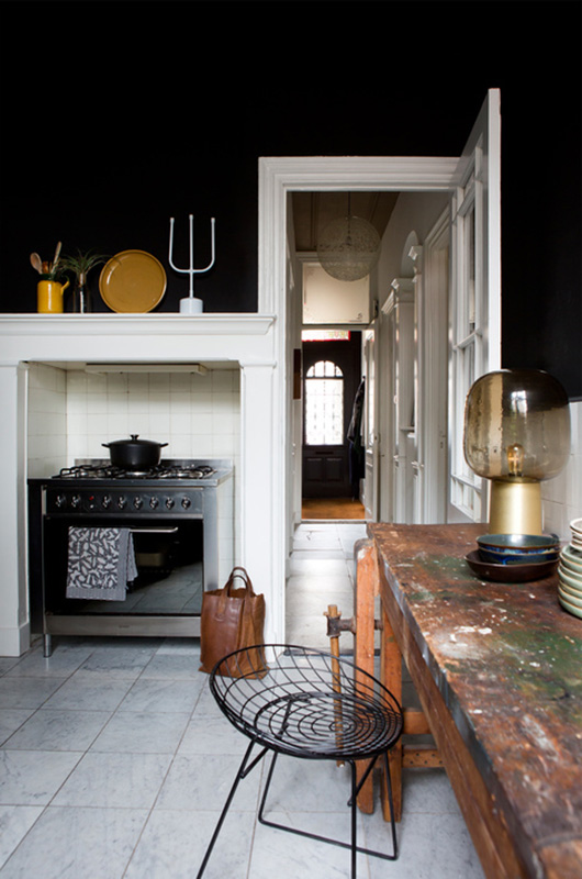 dark kitchen walls and decor / sfgirlbybay