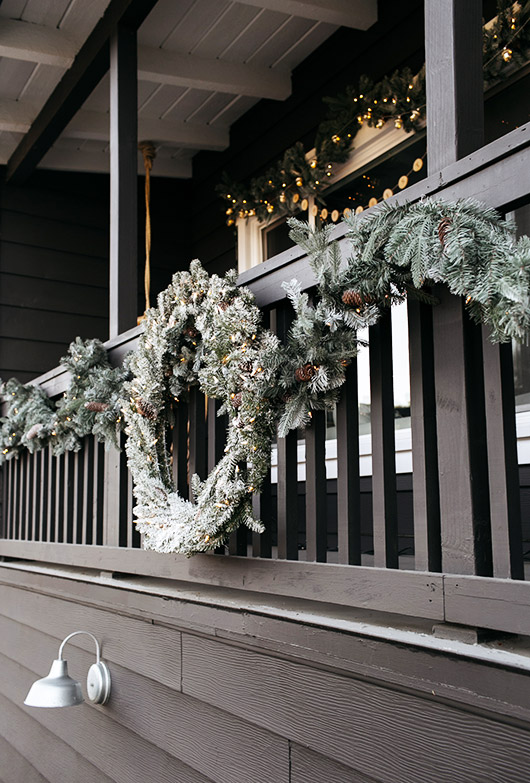 decorating with the martha stewart holiday collection on my deck. / sfgirlbybay