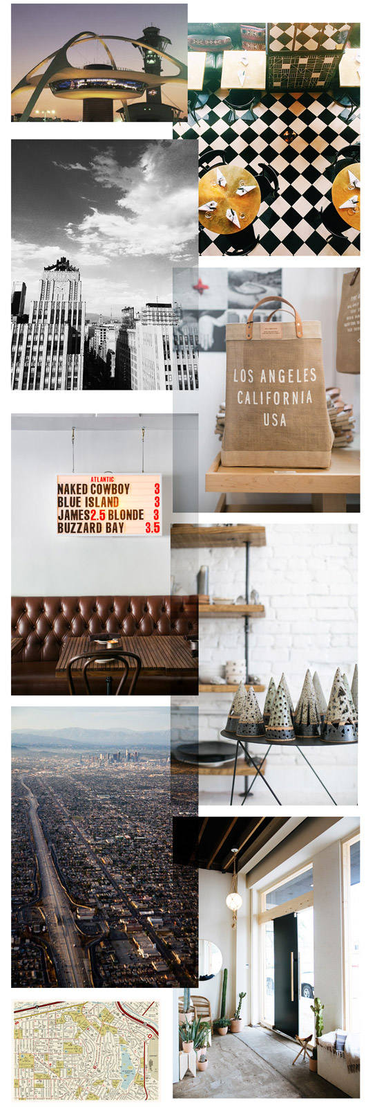 los angeles landmarks and specialty stores. / sfgirlbybay
