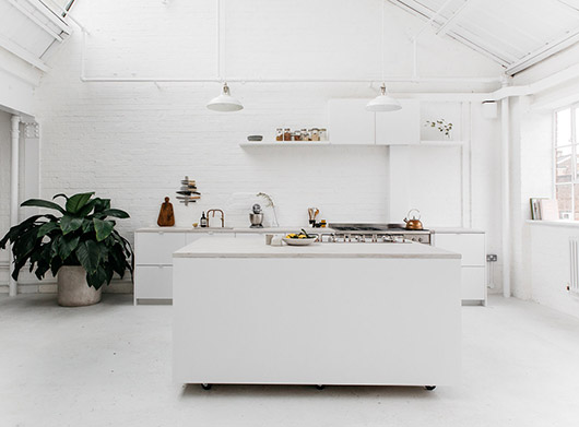 white kitchen decor at rye london. / sfgirlbybay