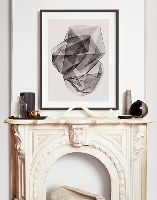 black and white permanent press editions framed art print. / sfgirlbybay