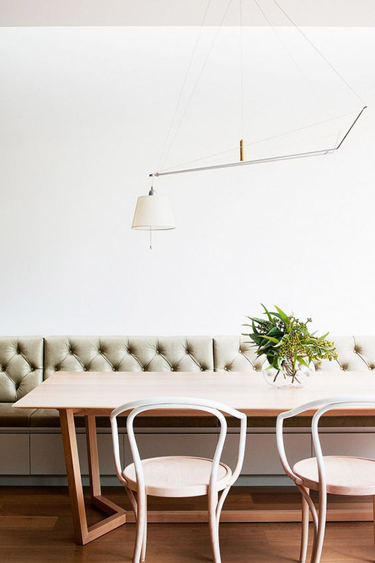modern bentwood dining chairs. / sfgirlbybay